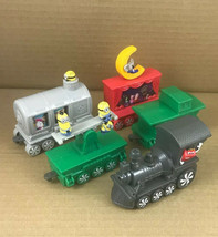 SET of 5 2017 McDonald's HOLIDAY EXPRESS TRAIN Cars Set Happy Meal Toys - $10.74