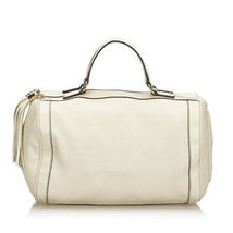 Pre-Loved Gucci White Ivory Others Leather Soho Handbag Italy - $690.76