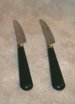 HUNTER GREEN HANDLE STAINLESS STEEL KNIVES SET OF 2 KNIFE - $5.40