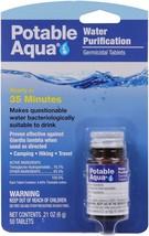 Potable Aqua Water Purification Tablets US Made Germicidal Treatment 50 ... - $12.99