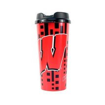NCAA Wisconsin Badgers Travel Cup, 16-ounce - $11.99