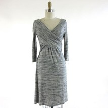 XS - AMADI Anthropologie Fara Surplice Gray Long Sleeve V-Neck Dress 0000MB - $45.00