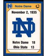 1990 Collegiate Collection Notre Dame #178 1935 Ohio Statete NM Near Mint - $0.75