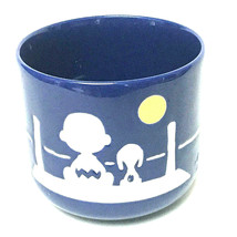 "Waechtersbach Peanuts Snoopy and Charlie Brown Blue Pet Bowl Set 7"" & 5 ... - $67.32"