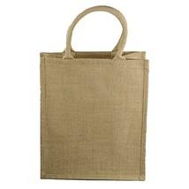 Natural Jute Burlap 6 Bottle Wine Tote Bag Reusable Jute Wine Carrier w/... - $63.93