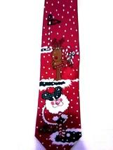 """Santa Reindeer Golf Christmas Holiday Tie Hallmark Special Ties Red 58"""" - $10.32"""
