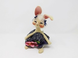 "1991 6.5"" Annalee Girl Bunny with Jean Frock - $22.99"