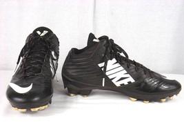 Nike Vapor Speed TD Mid Football Cleats 643155-010 Black/White US Size 8 Used - $19.99