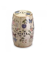 BUTTERFLY GARDEN CERAMIC STOOL - $77.69
