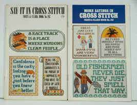 SAYINGS IN CROSS STITCH Coats & Clark 297 & 310 NEW 1980's - $6.99