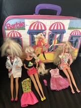 1990's Dr Barbie, Glitter Hair Barbie Dress, 1991 Sparkle Eyes Barbie Plus - $87.99