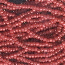 11/0 Seed Bead Rocaille Half Hank Red 6 - $3.99