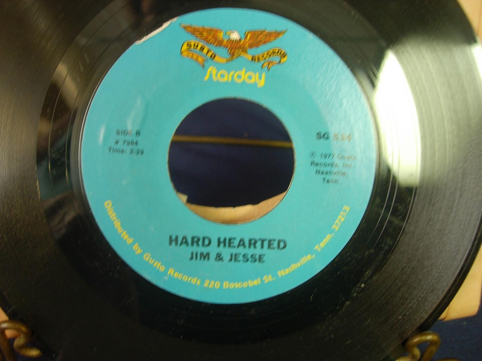 Jim & Jesse - Pardon Me / Hard Hearted - Starday SG 534