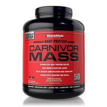 MuscleMeds Carnivor Mass  Diet Supplement, Chocolate Fudge, 5.7 Pound - $52.91