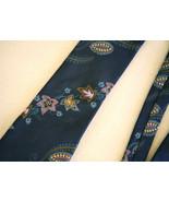 RARE Christian Dior Floral Flowers Paisley Classic SILK Neck Tie Necktie... - $36.62