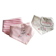 3PCS Funny Babies and Toddlers Bibs Adjustable Fashion Scarf, B - $14.09