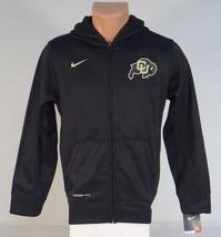 Nike ThermaFit Colorado CU Buffs Black Hooded Track Jacket Hoodie Youth ... - $56.24