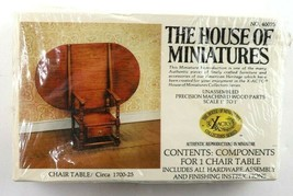 Vintage House of Miniatures CHAIR TABLE #40075 New Sealed - $49.95