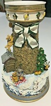 """""""Holiday Honey"""" by Cheryl Spencer Collin Lighthouses of Christmas Candle... - $22.44"""