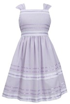 Bonnie Jean Big Girl Tween 7-16 Lavender-Purple Metallic Pencil Stripe Dress