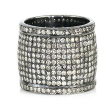 4.38 Ct Diamond Cigar Band Ring in 925 Sterling Silver - $782.09
