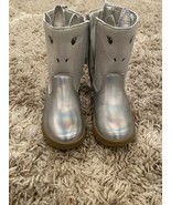 Carter's Toddler Girls Eliska-CR Unicorn Boot Silver Cushioned NEW Size 10 - $34.64