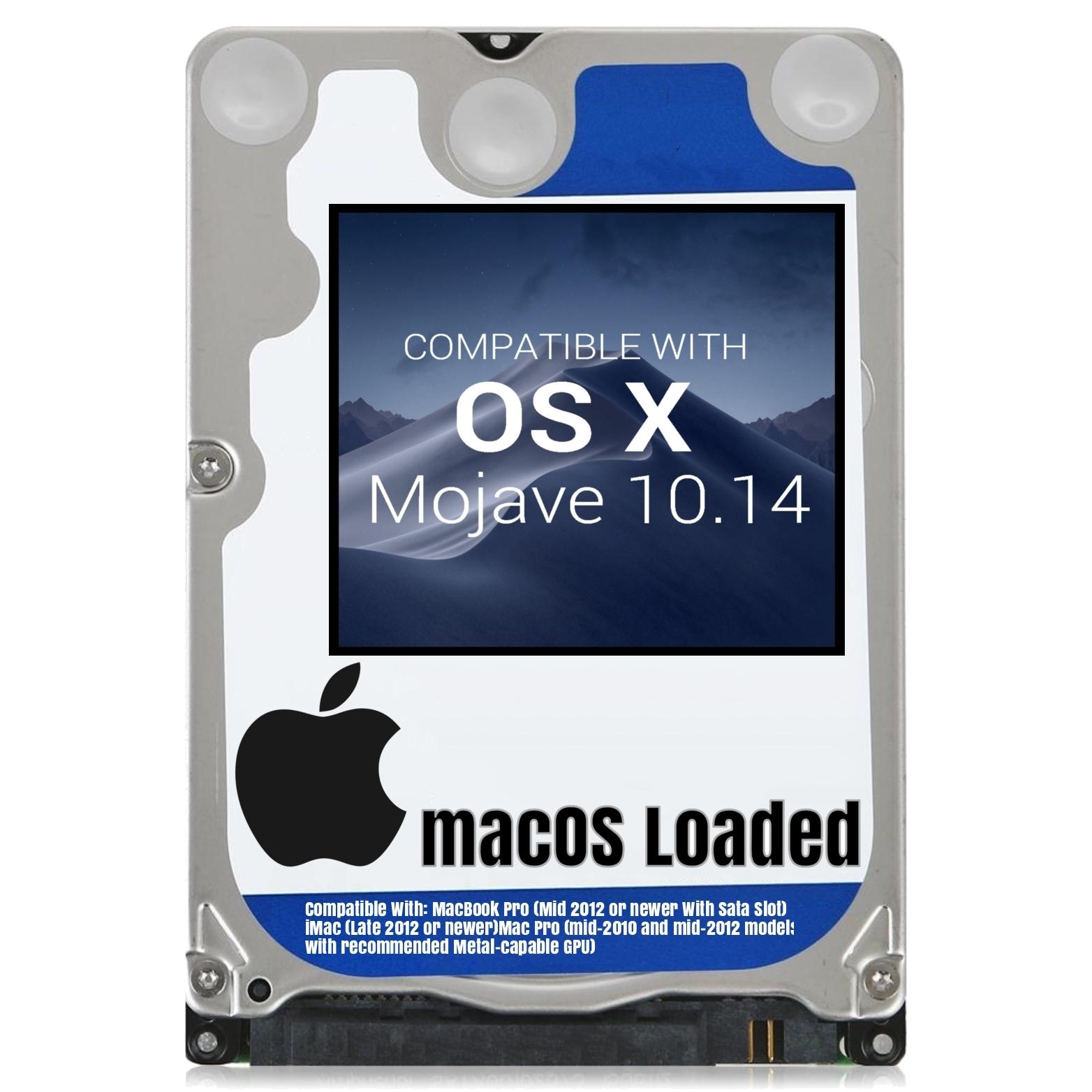 macOS Mac OS X 10.14 Mojave Preloaded on Sata HDD - $14.99 - $36.99