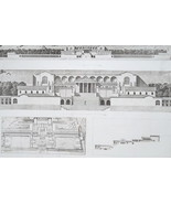 ITALY Temple of Fortuna at Palestrina or Preneste - SUPERB 1905 Espouy P... - $24.48