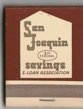 Vtg Strike on Matchbook  ~ San Joaquin 1st Federal Savings & Loan Associ... - $9.89