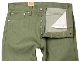 NEW LEVI'S 501 MEN'S ORIGINAL FIT STRAIGHT LEG JEANS BUTTON FLY OLIVE 501-1437 image 3