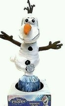 """disney frozen snowman olaf 9"""" spinning talking plush just play new with box - $25.86"""