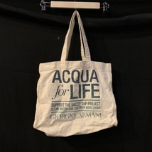 Giorgio Armani Acqua for Life Unicef Cotton Reusable Tote Shopping Bag 1... - $14.01