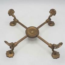 """Vintage Brass Andrea by Sadek Footed Adjustable Bowl / Pan Holder 3.75""""-... - £15.18 GBP"""