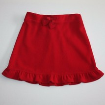 Crazy 8 Cozy Gifts Red Ruffle Microfleece Skirt size 5 - $7.99