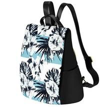 Kamo Women Floral Backpack Waterproof Nylon Multi-pocket Schoolbags Anti-theft D