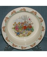 Royal Doulton Bunnykins- Baby Plate /Child's Bowl -Family in the Garden ... - $7.95