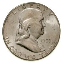 1953-S 50C Franklin Half Dollar in Choice BU Condition, Excellent Eye Ap... - $44.54