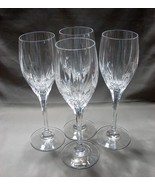 Set of 4 Mikasa Wine  Glasses Arctic Lights Pattern Perfect Condition - $45.99
