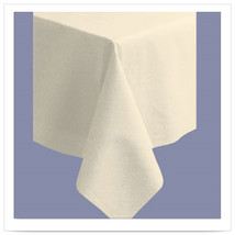 82 x 82 Linen Like Ecru Color In Depth Tablecover/Case of 12 - $191.55