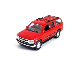 2001 CHEVROLET SUBURBAN RED WELLY 1/38  DIECAST CAR COLLECTOR'S MODEL,NEW - $26.59