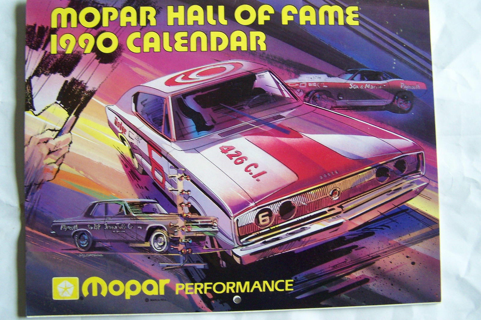 Primary image for 1990 mopar plymouth dodge hemi chrysler owners hall of fame calender brochure