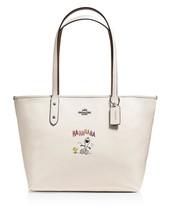 NWT Ltd. Edition Coach x Peanuts Snoopy Leather City Zip Tote (Chalk) - $335.00
