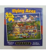 Dowdle Puzzles Folk Art 100 Pieces Flying Aces 16 x 20 in Large Piece Ji... - $14.01