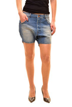 One Teaspoon Women's Relaxed Hustlers Shorts Size 26 Blue Stone RRP $110... - $58.22