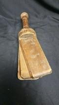 """Antique Primitive Lot 4 Wood Noise Maker Clapper Fire Alarm Wooden Clicker 16.5"""" image 2"""