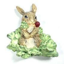 Vintage 1998 Avon Hallmark Marjolein Bastin Ceramic Magnet Bunny w Radis... - $18.66