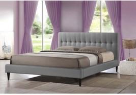 Baxton Studio Lily Modern Button Tufted Platform Bed Queen Size - $573.21