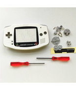 GBA Nintendo Game Boy Advance Replacement Housing Shell Screen White Mario - $17.88