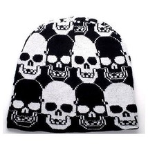 Punk Rock Winter Ski Snowboarding Hat Cap Black & White Skulls Beanie ( ... - $15.76 CAD