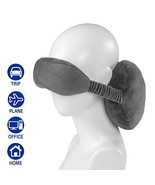 HERIGGA Travel Pillow Eye Mask Neck Pillow for Head Support Hand Washabl... - $11.34